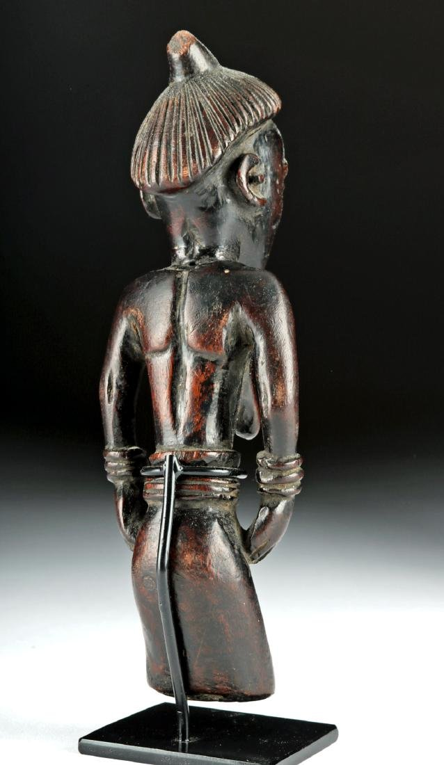 Early 20th C. African Pende Wood Figure - Elder Female - 4