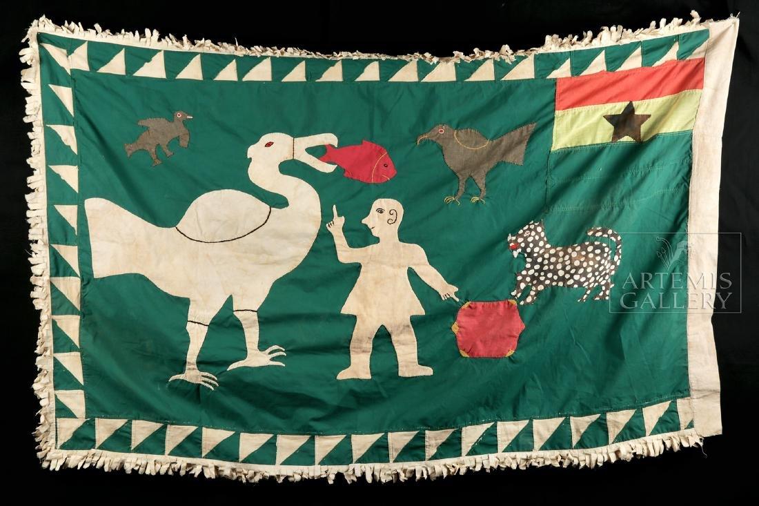 20th C. Ghana Asafo Militia Parade Flag - 4