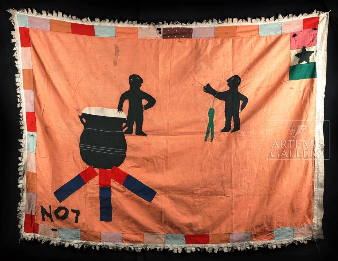 Published / Exhibited 20th C. Asafo No 7 Militia Flag