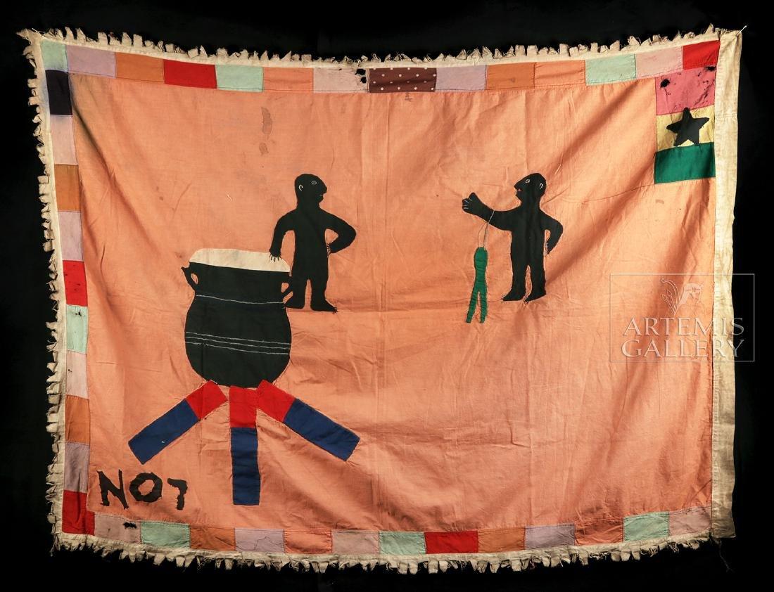 Published / Exhibited 20th C. Asafo No 7 Militia Flag - 2