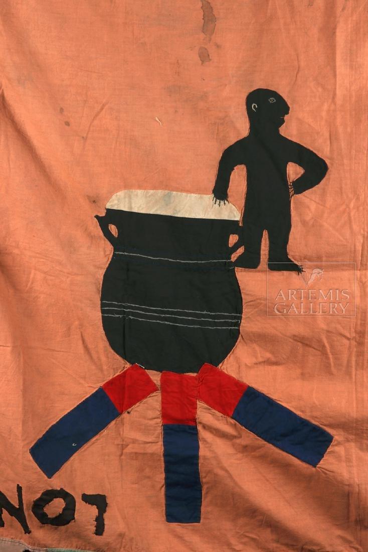 Published / Exhibited 20th C. Asafo No 7 Militia Flag - 3