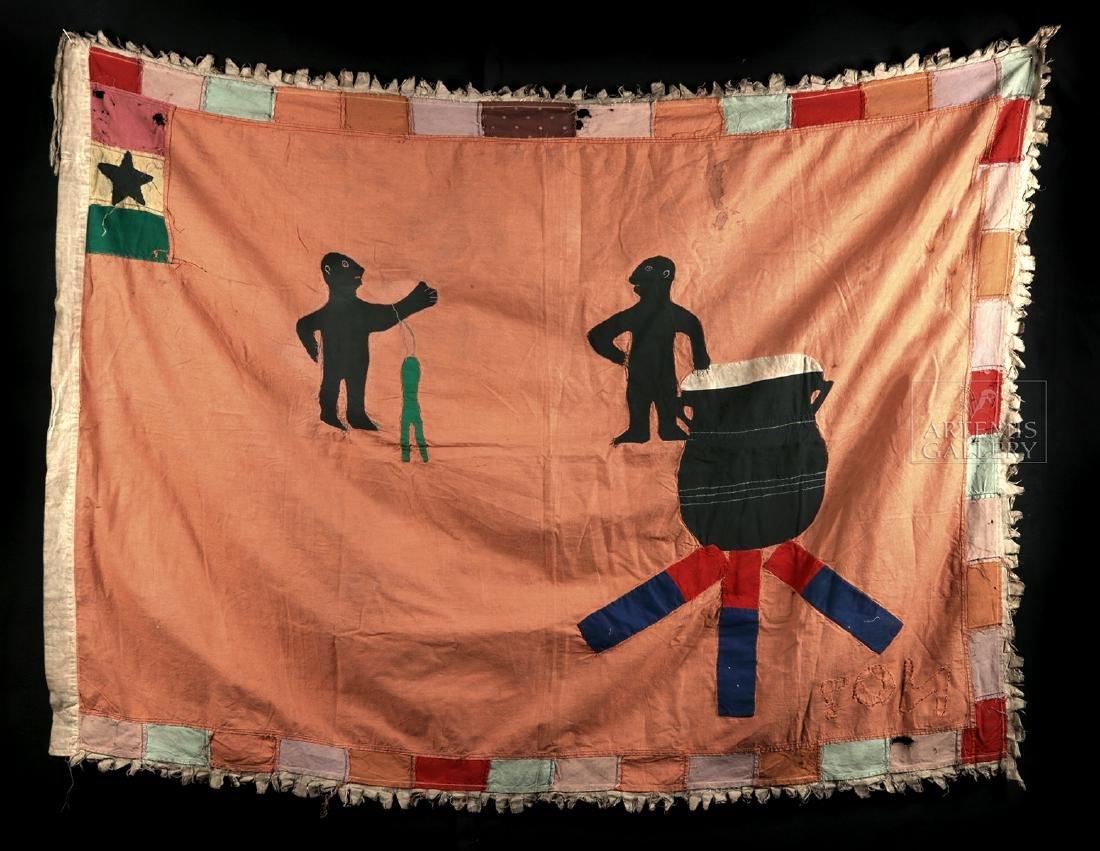 Published / Exhibited 20th C. Asafo No 7 Militia Flag - 5