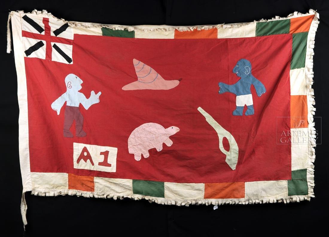 Published / Exhibited 20th C. Asafo No A1 Militia Flag