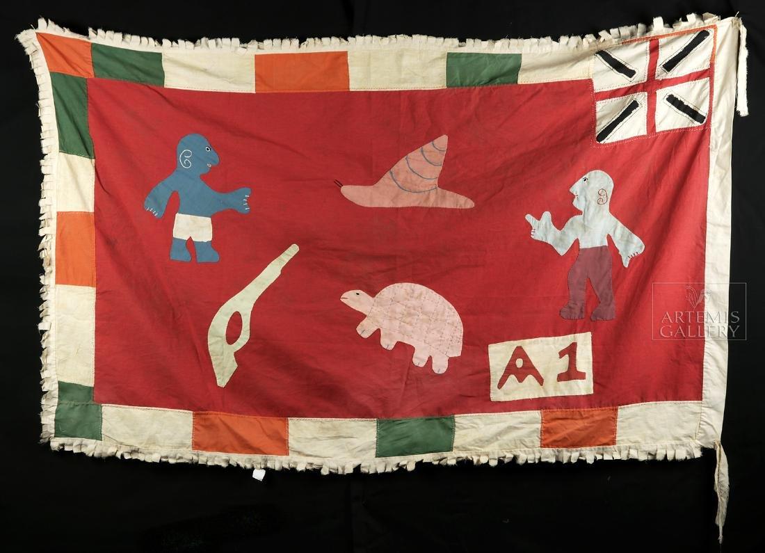 Published / Exhibited 20th C. Asafo No A1 Militia Flag - 4