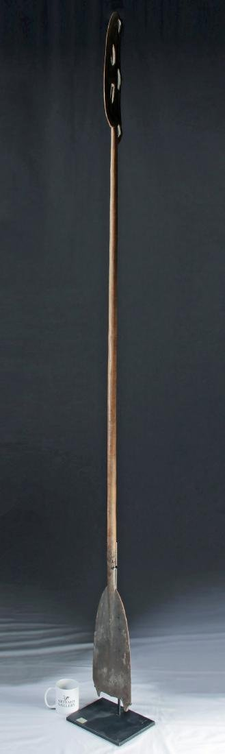 20th C. PNG Sepik River Wooden Canoe Paddle - 2