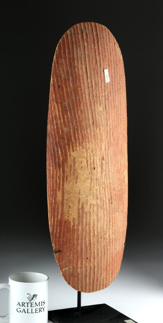 Early 20th C. Australian Wood Parrying Shield - 2