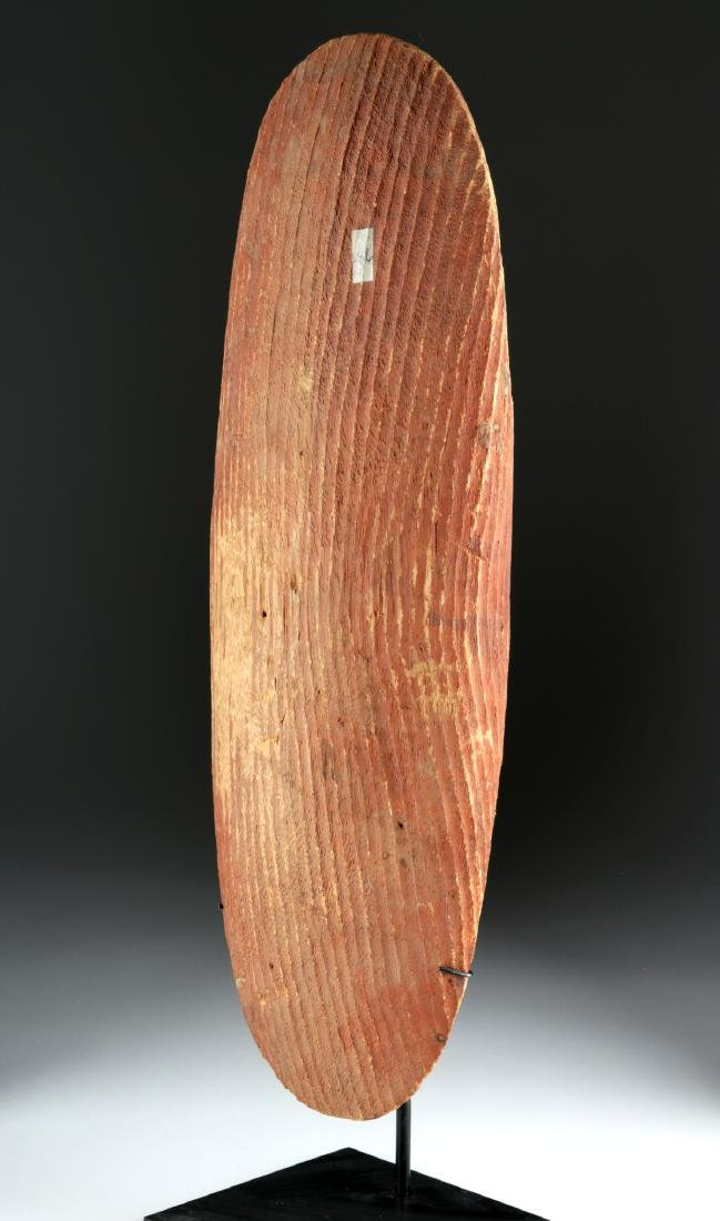 Early 20th C. Australian Wood Parrying Shield - 3