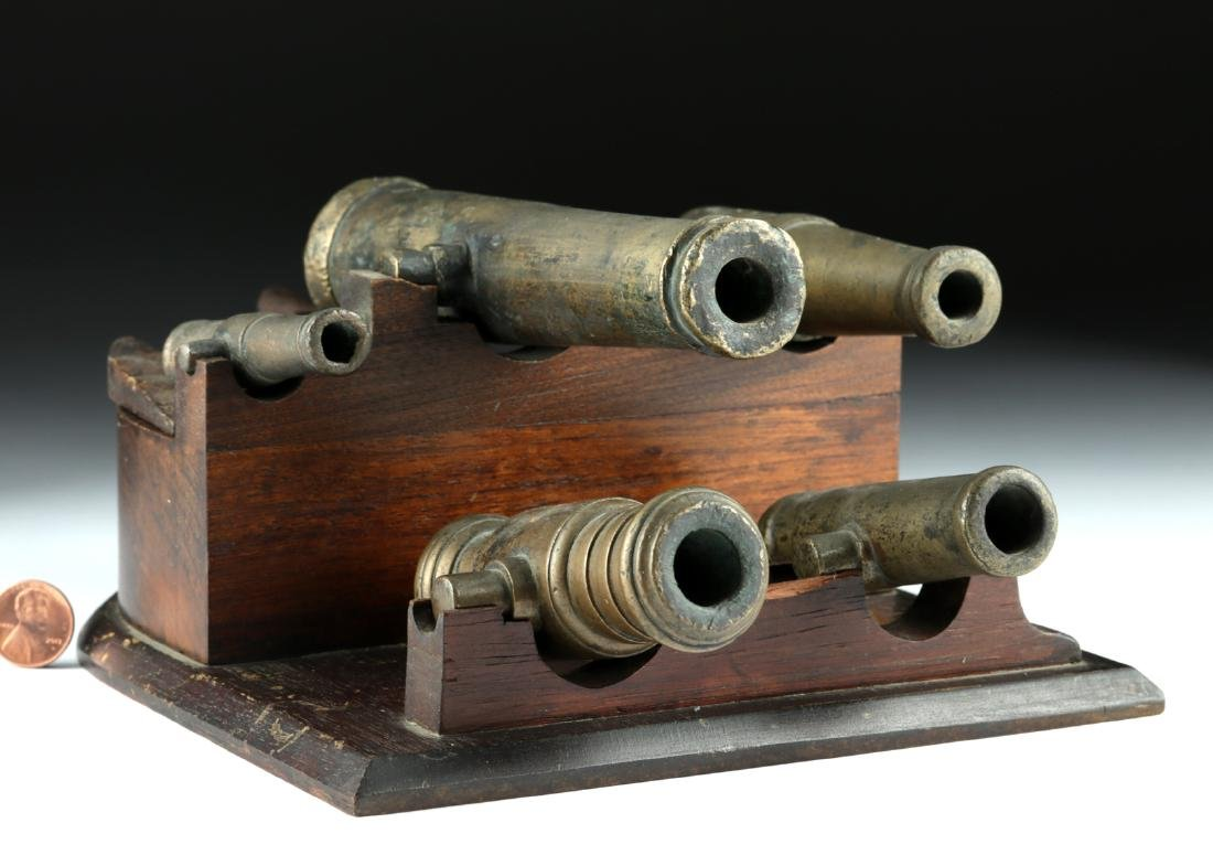 19th C. Brass Signal Cannon Grouping (5)