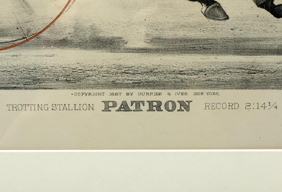"""Currier & Ives, """"Trotting Stallion Patron"""", 1887 - 4"""