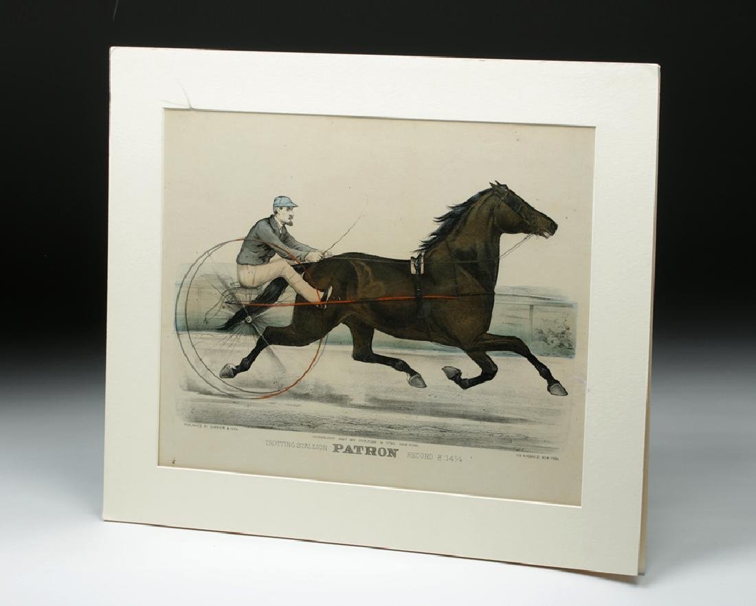 """Currier & Ives, """"Trotting Stallion Patron"""", 1887 - 6"""