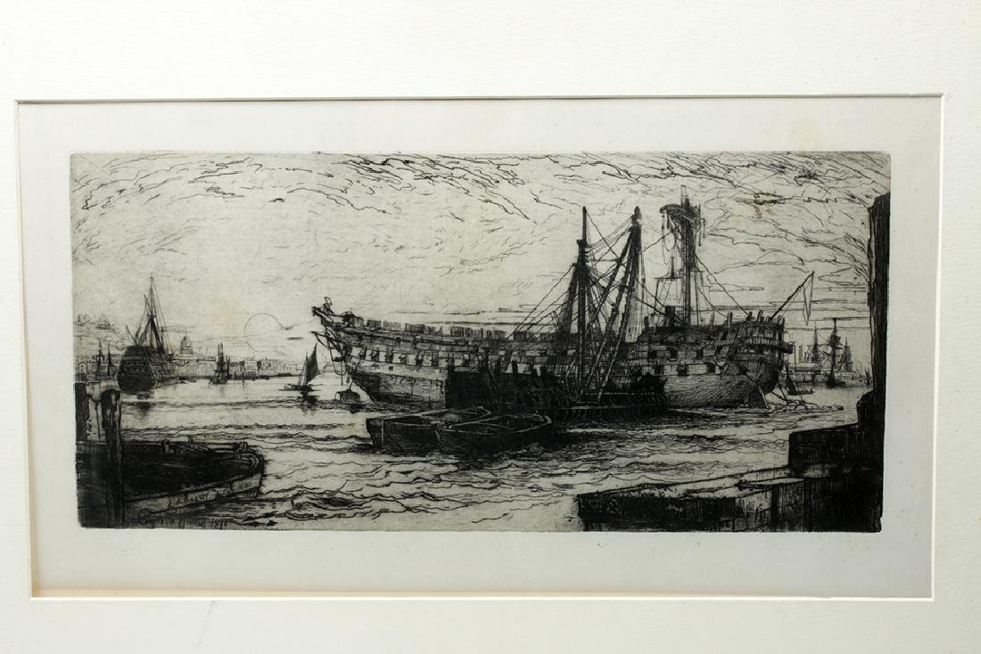 "Barry after Haden Etching ""Breaking … Agamemnon"" 1880 - 2"