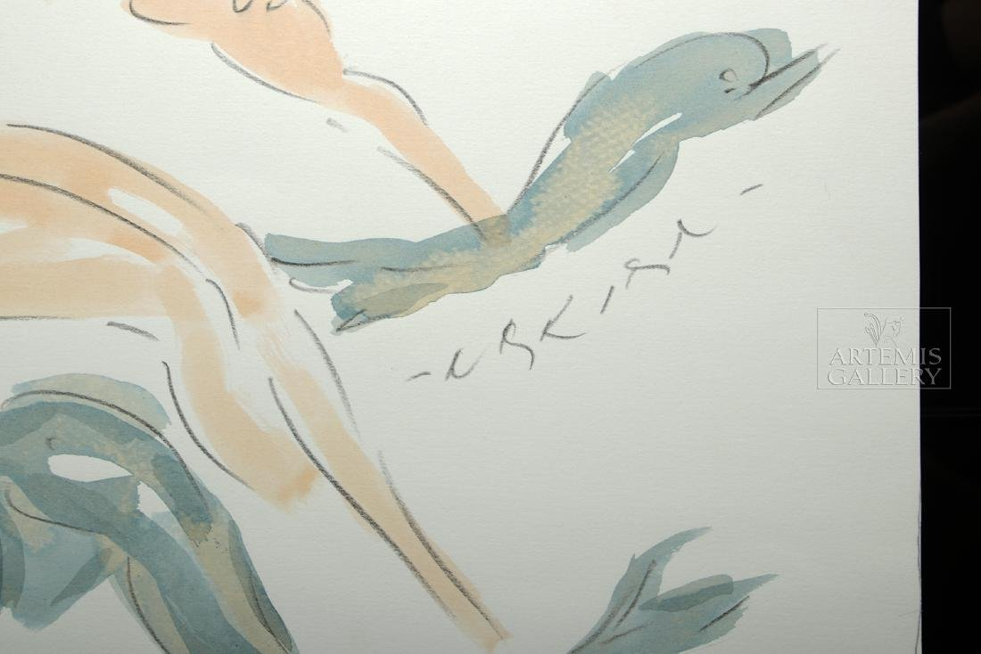 Signed Nakian Watercolor, Three Graces, ca. 1960s - 2