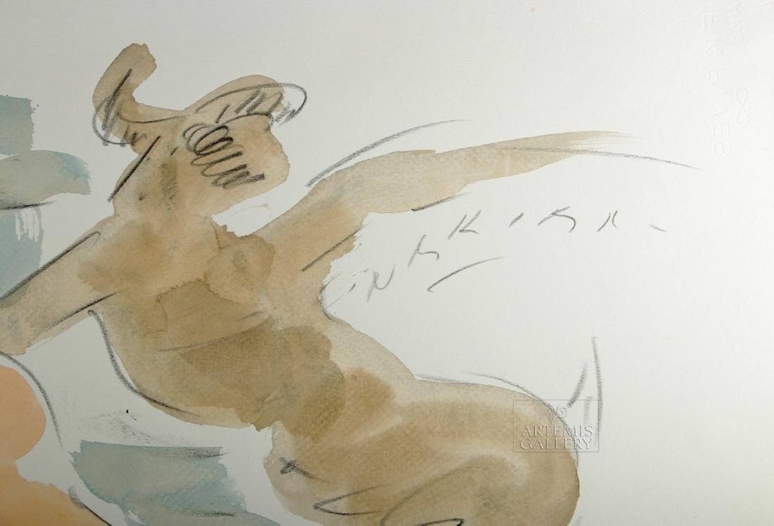 Signed Reuben Nakian Watercolor, Three Graces - 1960s - 2