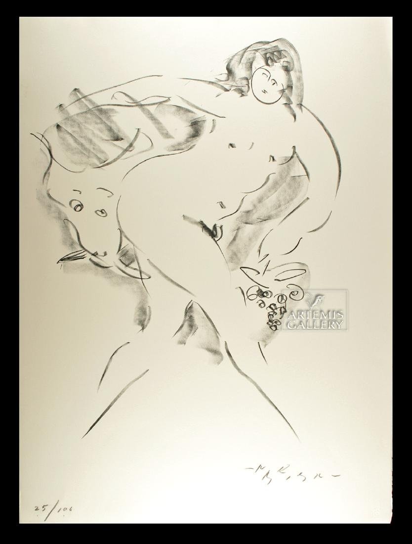 Signed Nakian Lithograph - Europa Abducted - 1960s