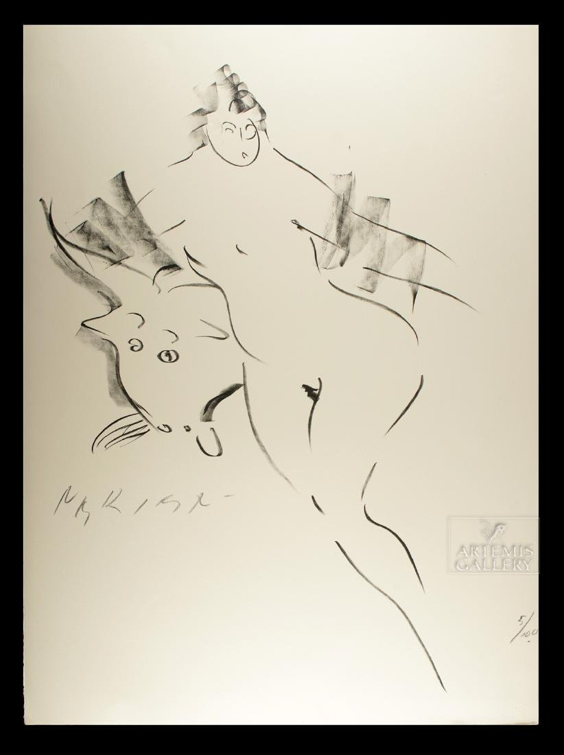 Signed Nakian Lithograph - Europa and the Bull - 1960s