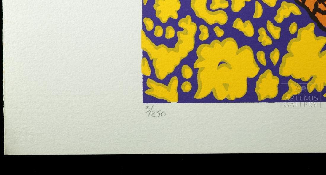 Signed Hunt Slonem Original Color Silkscreen - 1980 - 2