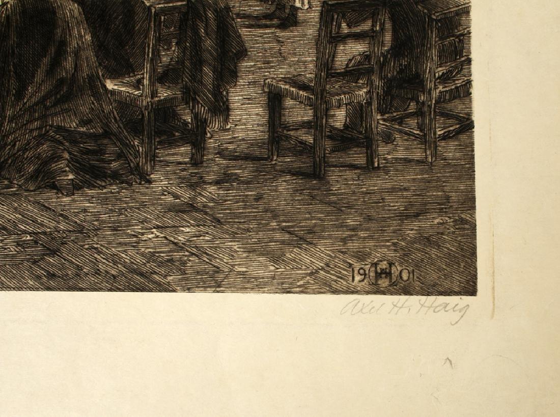 "Signed Haig Aquatint, ""Cefalu Cathedral"" 1901 - 3"