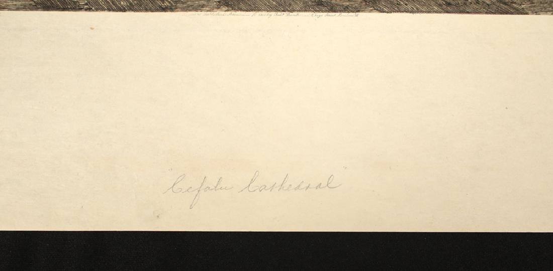 "Signed Haig Aquatint, ""Cefalu Cathedral"" 1901 - 4"