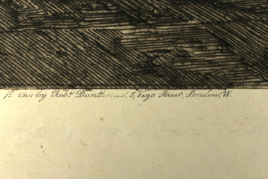 "Signed Haig Aquatint, ""Cefalu Cathedral"" 1901 - 7"