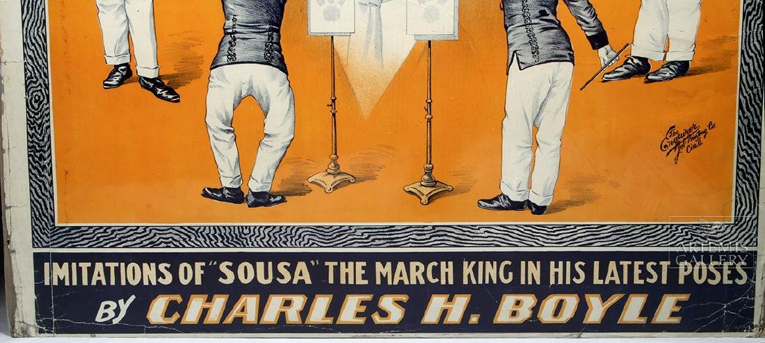 19th C. Poster - The Star Boarder Imitations of Sousa - 2