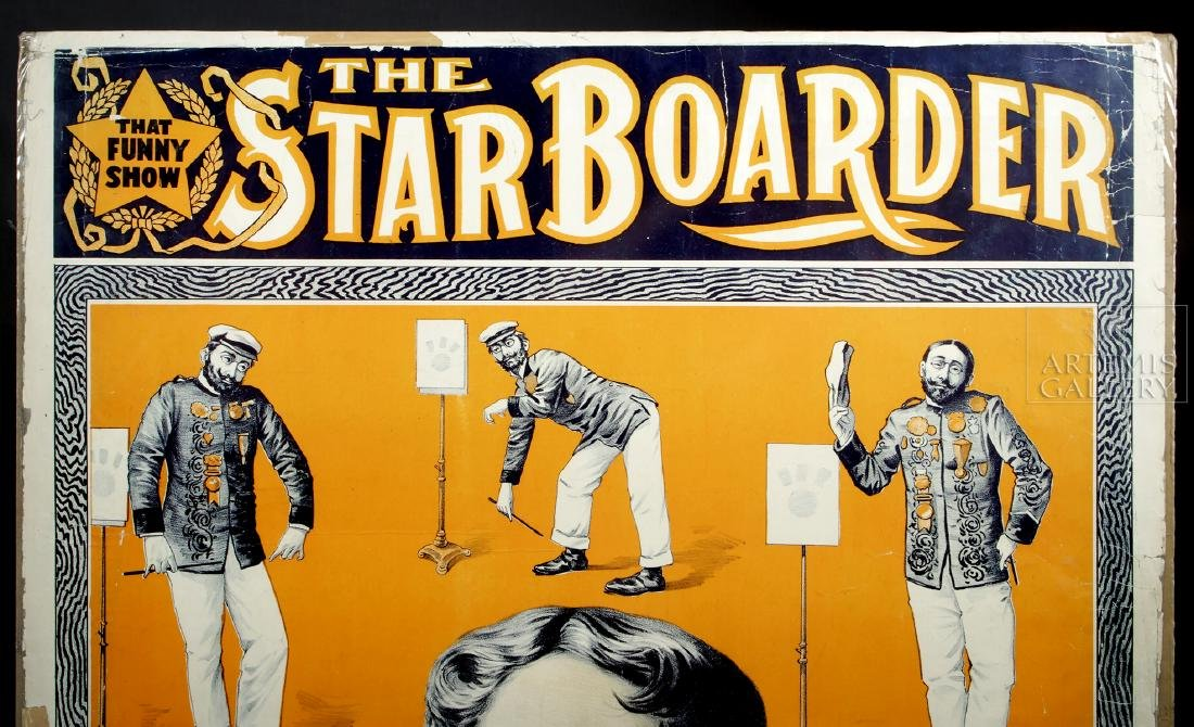 19th C. Poster - The Star Boarder Imitations of Sousa - 4