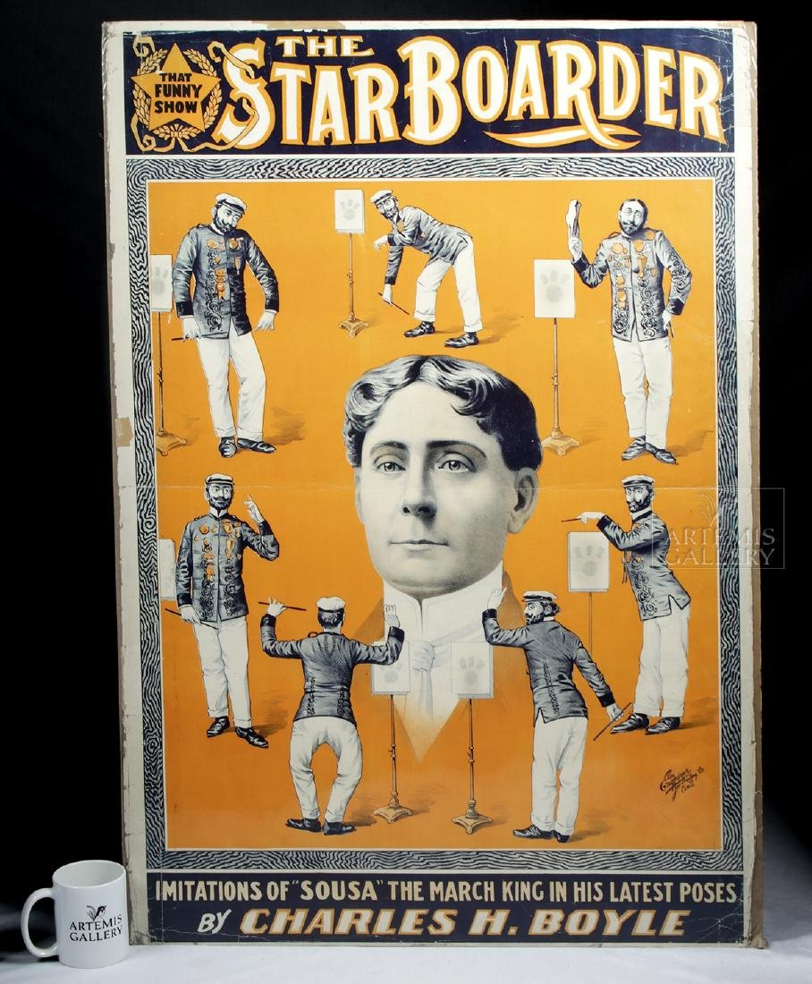 19th C. Poster - The Star Boarder Imitations of Sousa - 5