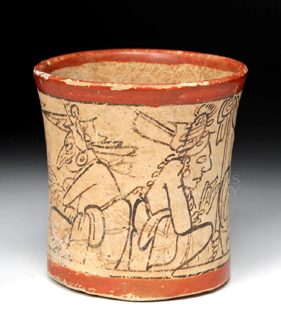 Translated Mayan Codex Style Cylinder