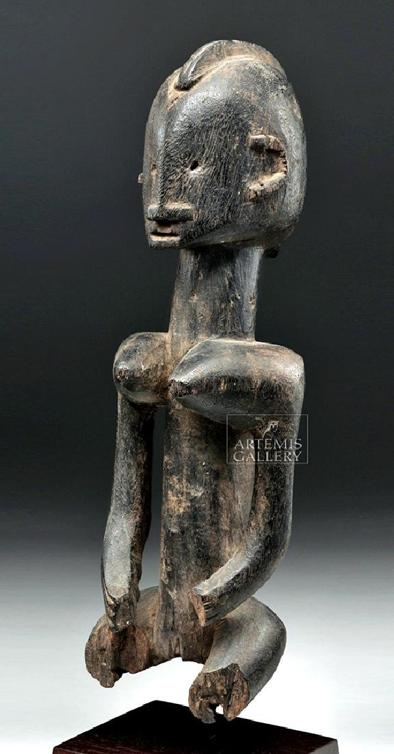 Late 19th C. African Dogon Wooden Seated Female Figure