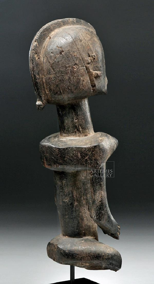 Late 19th C. African Dogon Wooden Seated Female Figure - 4