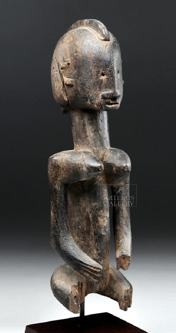 Late 19th C. African Dogon Wooden Seated Female Figure - 5