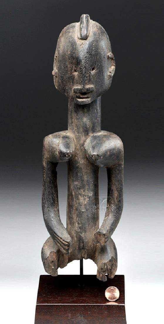 Late 19th C. African Dogon Wooden Seated Female Figure - 6