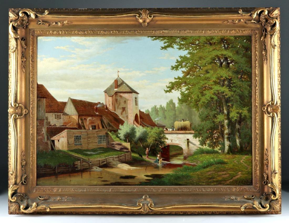 Signed 19th C. Dutch Landscape Painting, Nijhoff