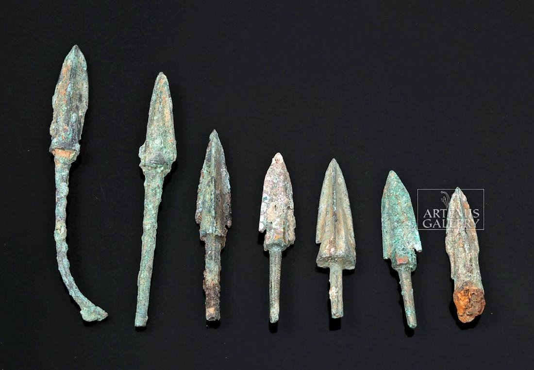 Seven Greek Bronze Age Projectile Points