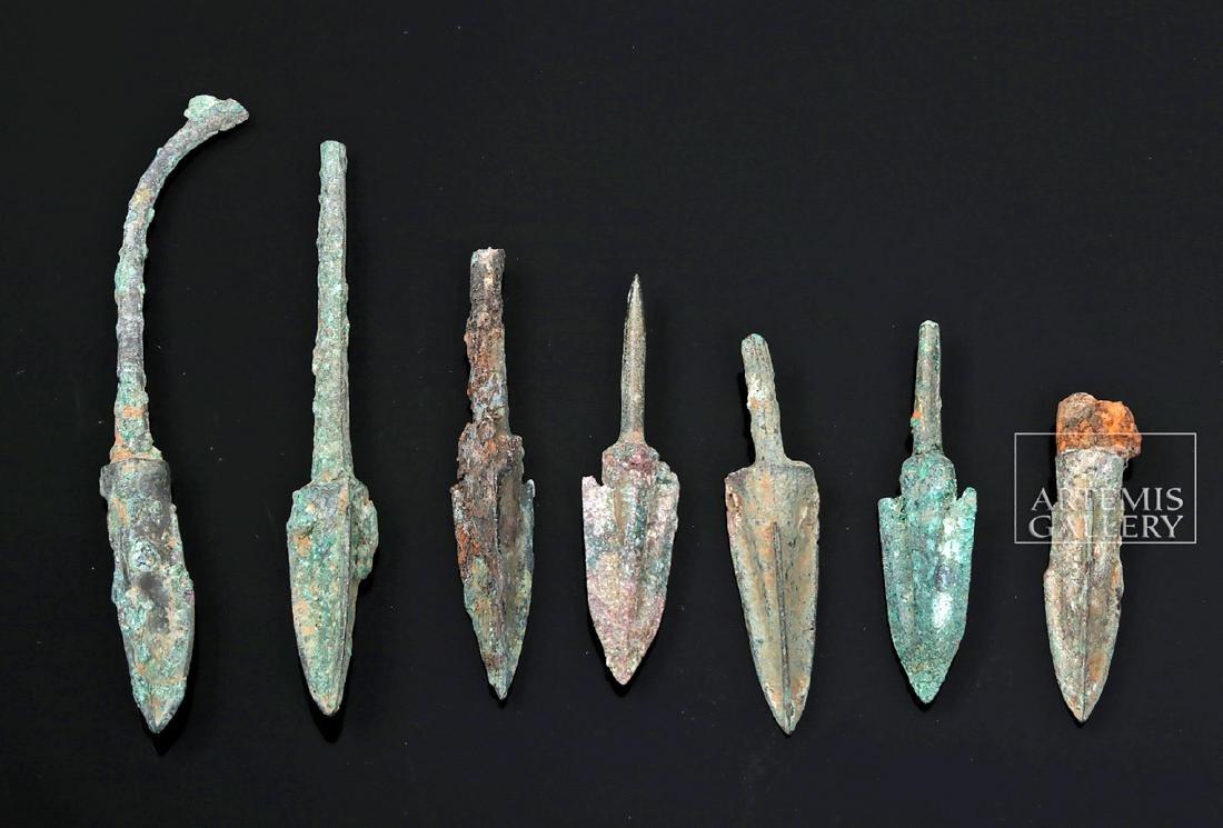 Seven Greek Bronze Age Projectile Points - 2
