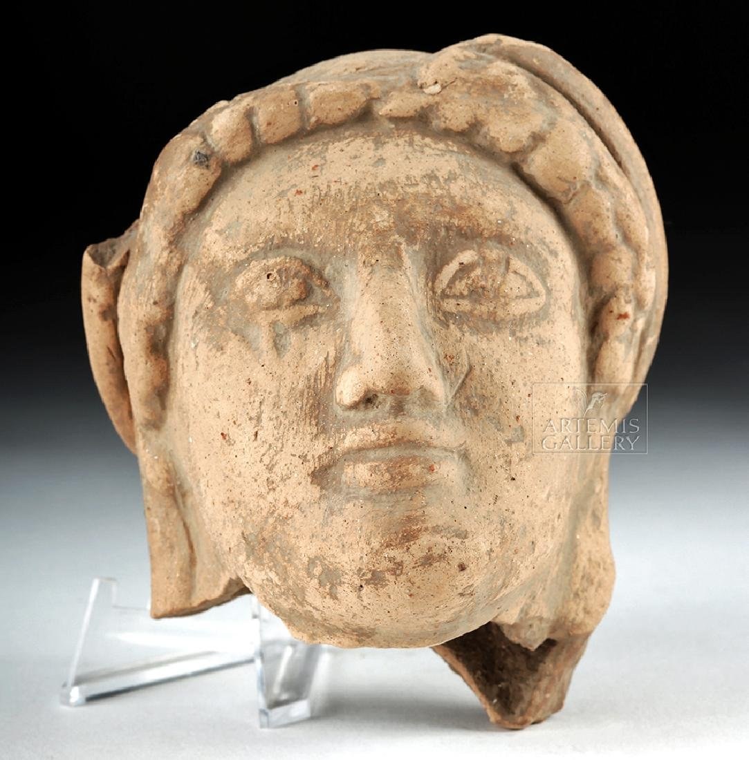 Archaic Greek Terracotta Head of a Kore