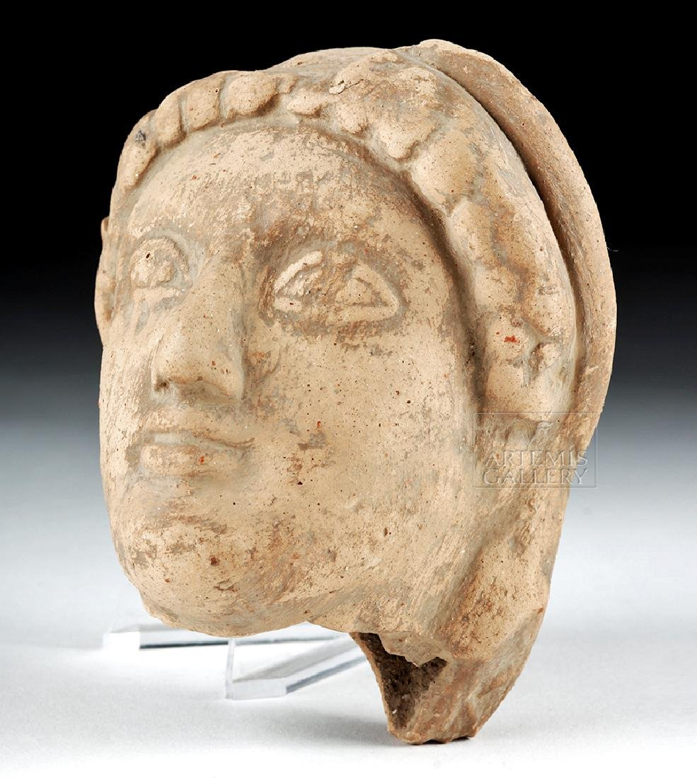 Archaic Greek Terracotta Head of a Kore - 2