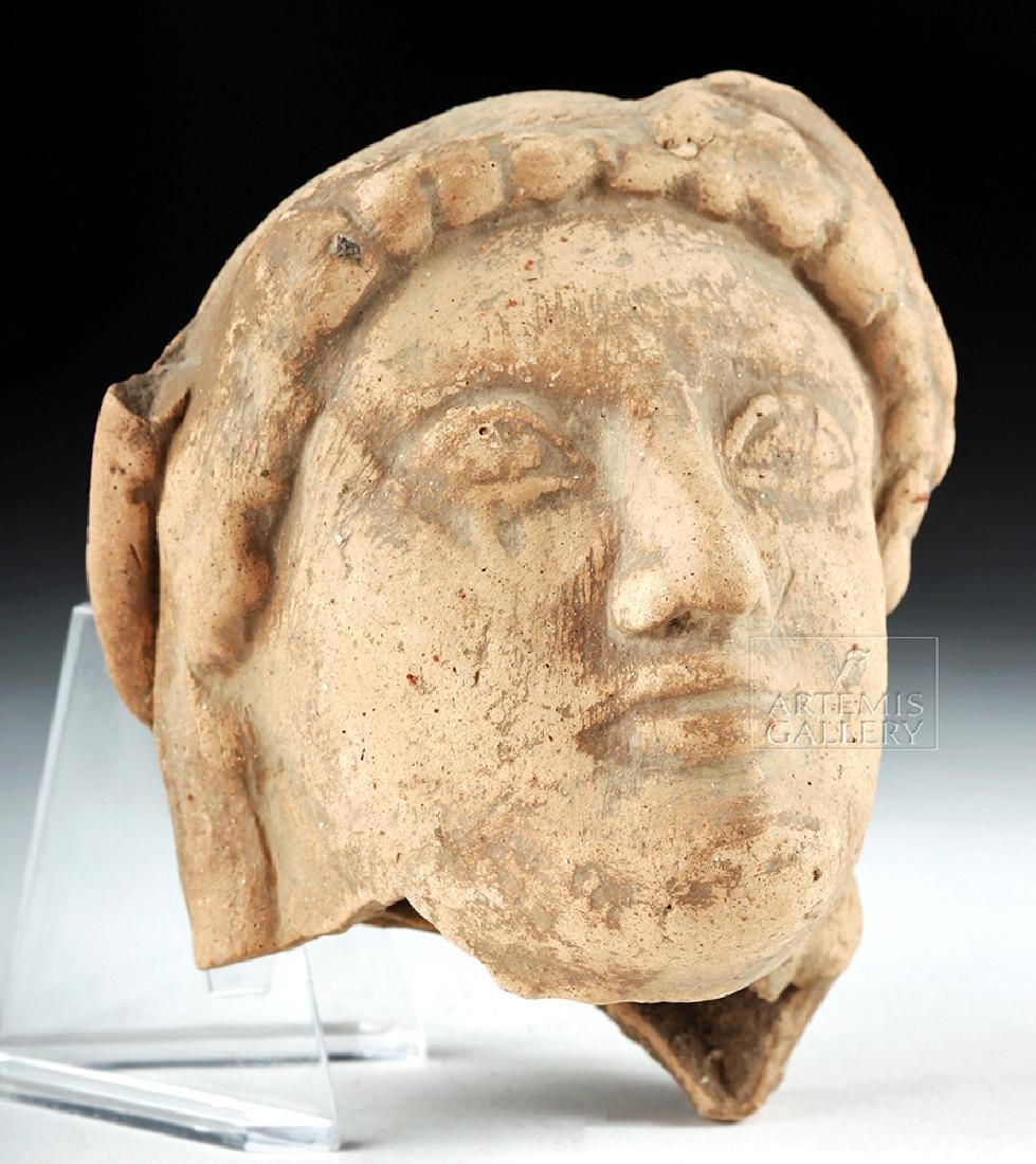 Archaic Greek Terracotta Head of a Kore - 3