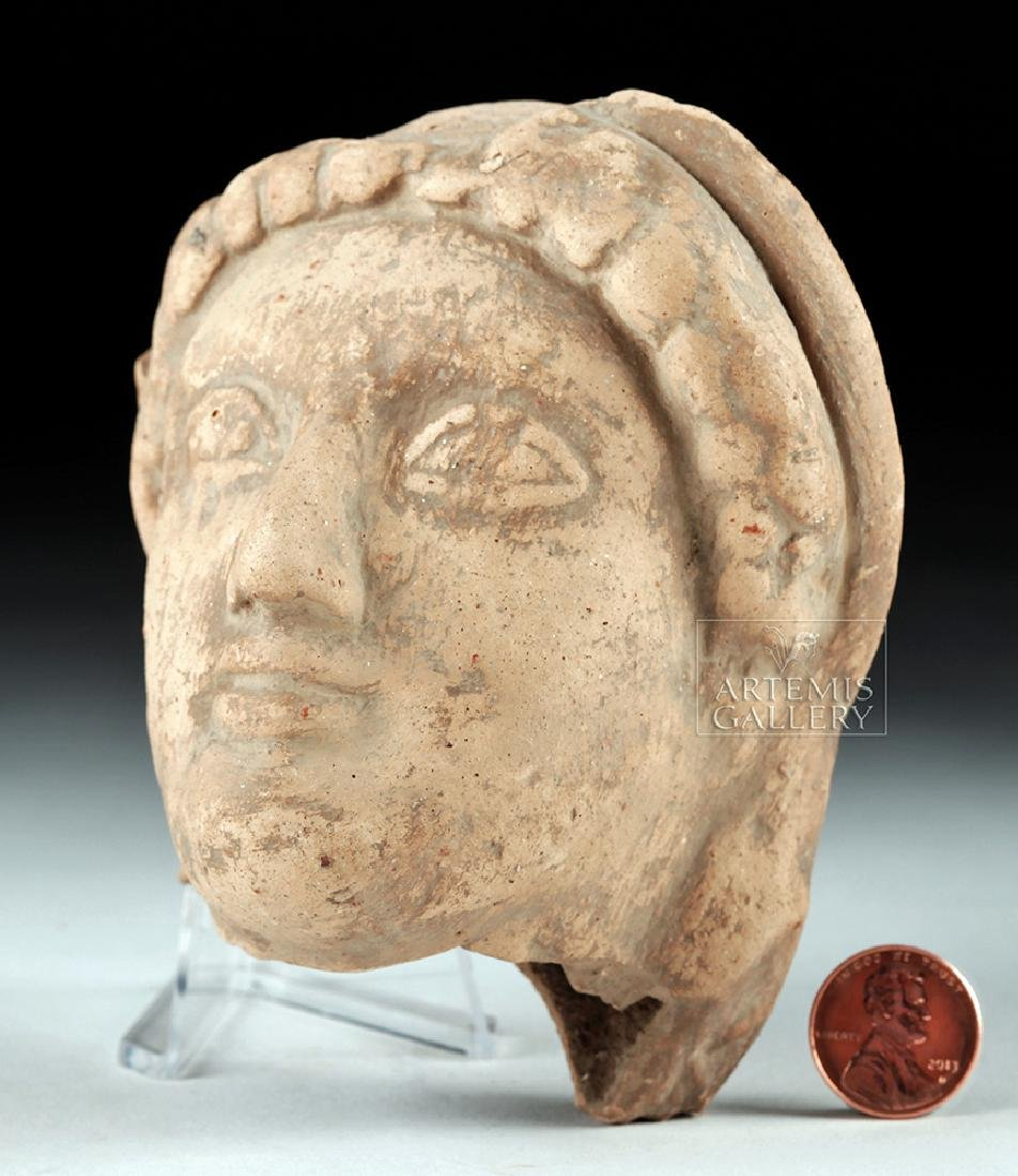 Archaic Greek Terracotta Head of a Kore - 5