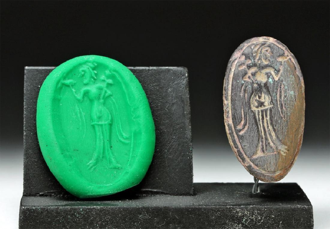 Ancient Greek Stone Seal - Sensuous Female