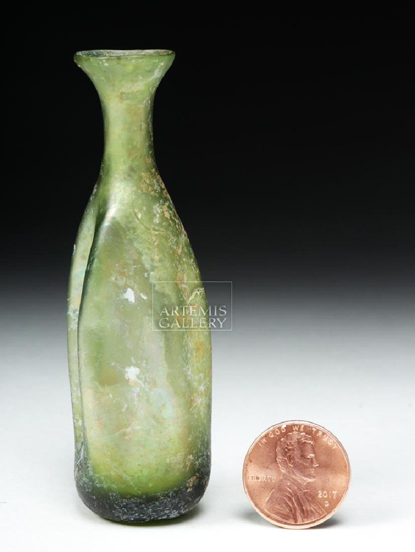Beautiful Roman Green Glass Unguentarium - 5