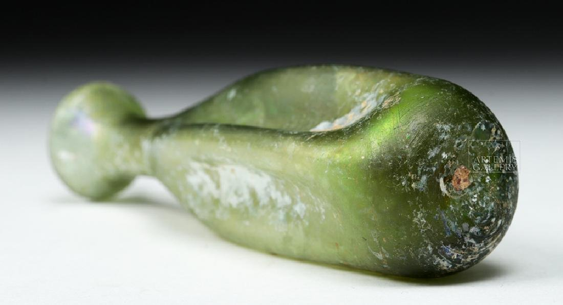 Beautiful Roman Green Glass Unguentarium - 7