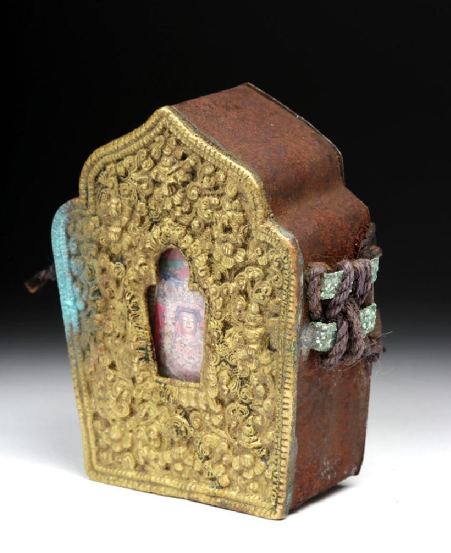 """Early 20th C. Tibetan Bronze """"Ghau"""" - Prayer Box"""