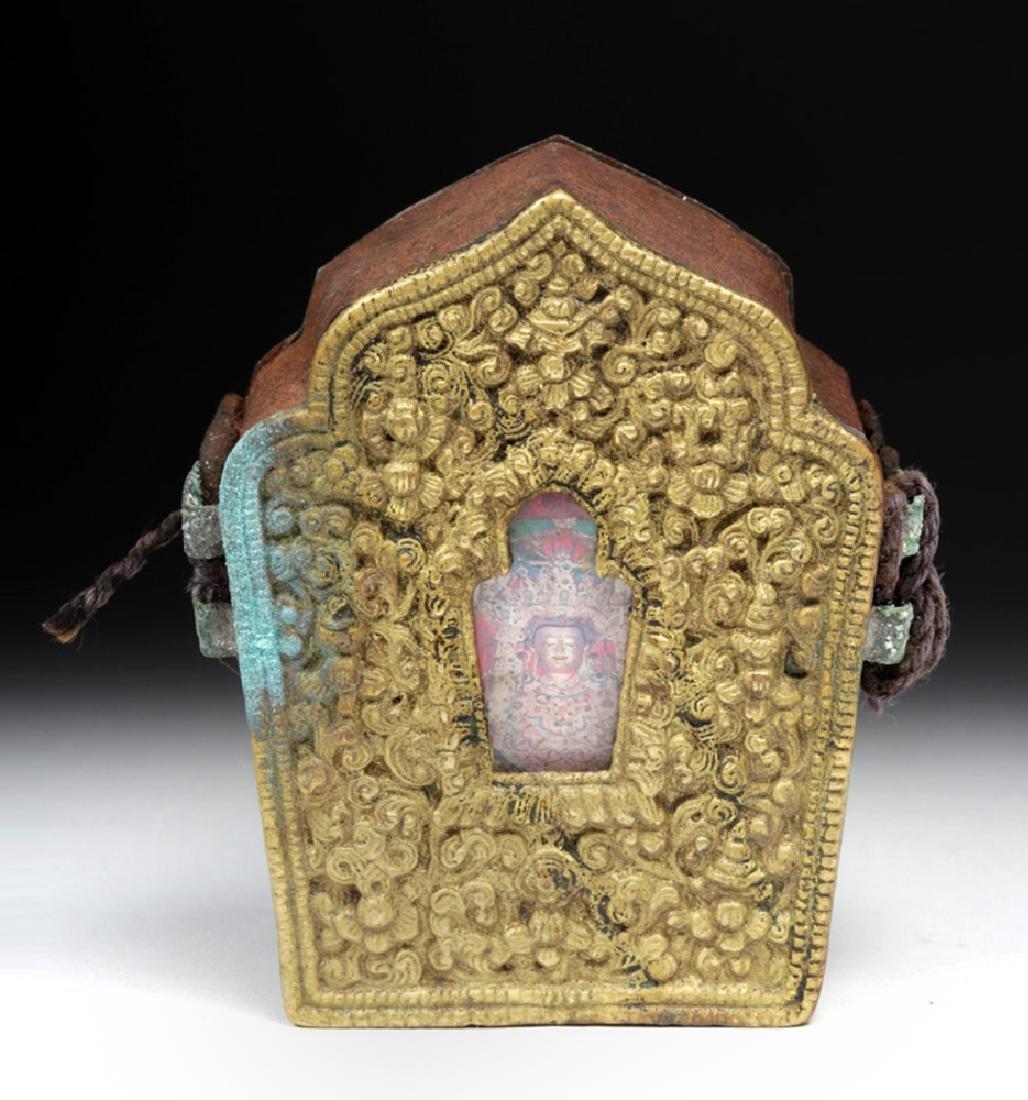 """Early 20th C. Tibetan Bronze """"Ghau"""" - Prayer Box - 2"""