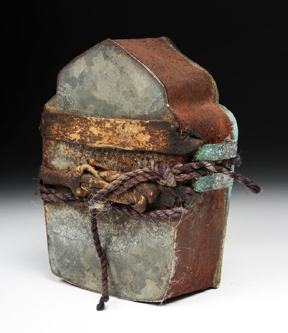 """Early 20th C. Tibetan Bronze """"Ghau"""" - Prayer Box - 4"""