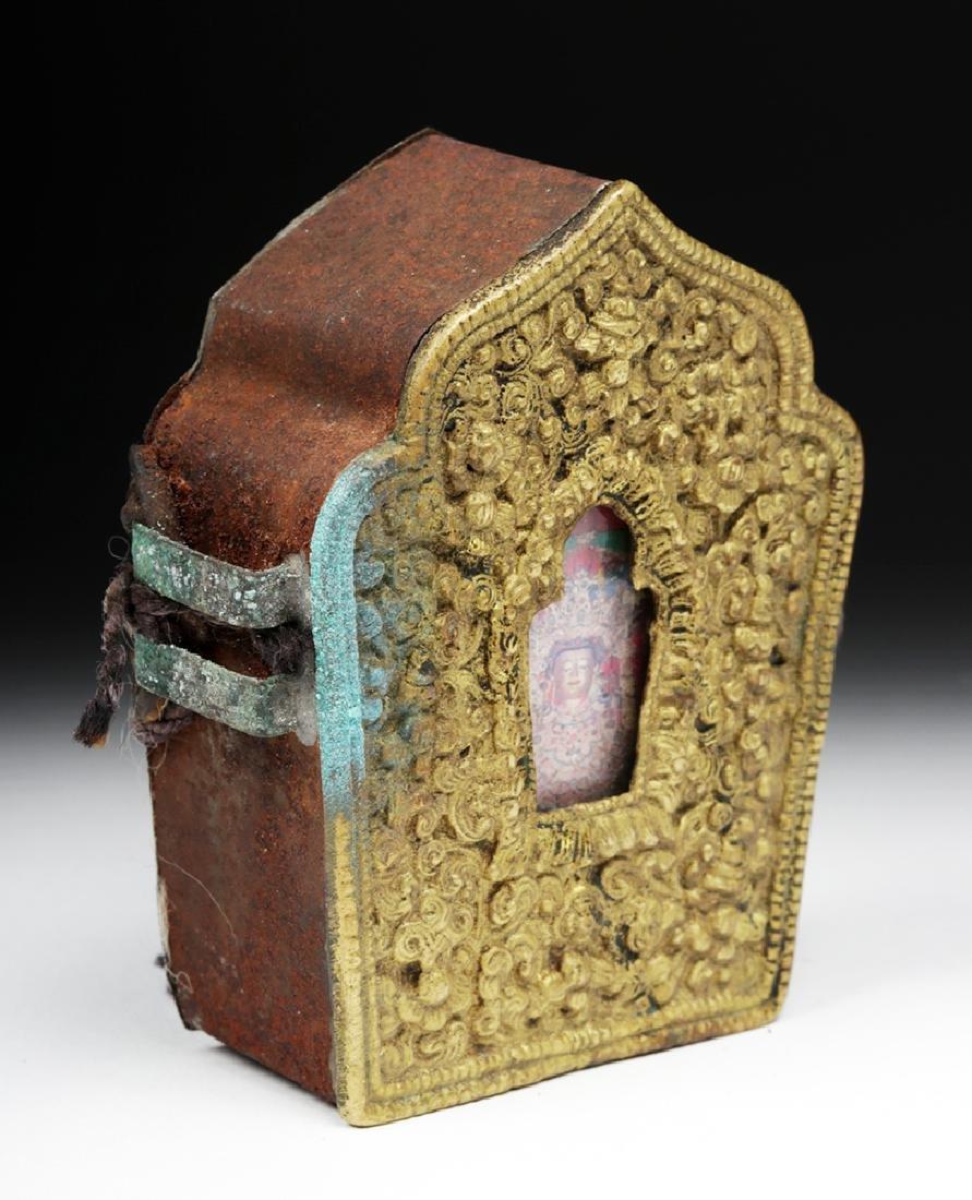 """Early 20th C. Tibetan Bronze """"Ghau"""" - Prayer Box - 5"""