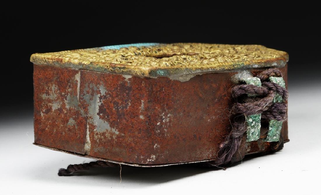 """Early 20th C. Tibetan Bronze """"Ghau"""" - Prayer Box - 6"""