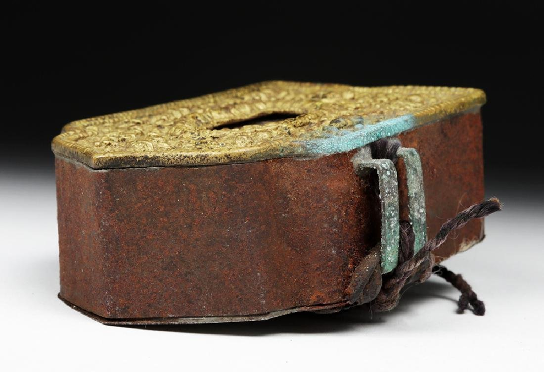 """Early 20th C. Tibetan Bronze """"Ghau"""" - Prayer Box - 7"""
