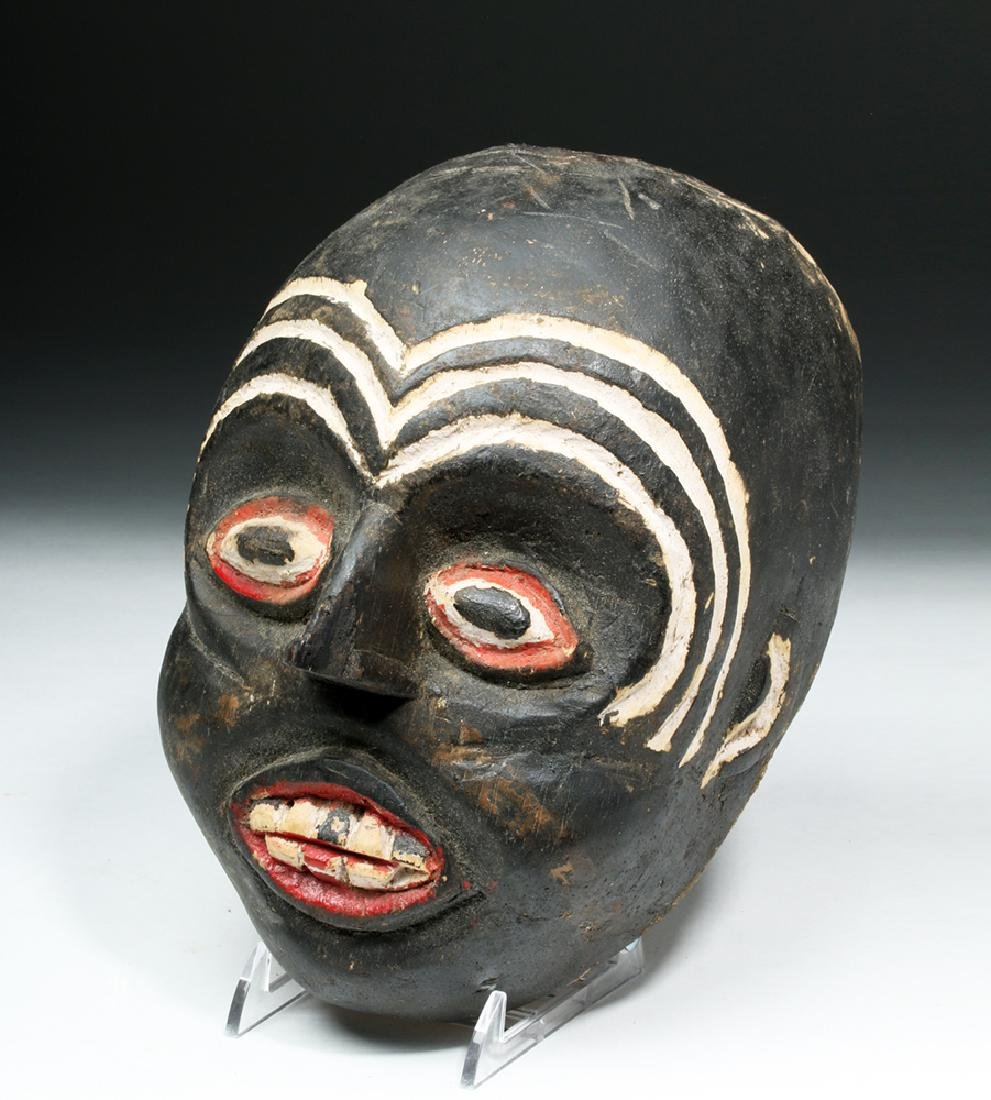 Indonesian Carved & Painted Wooden Festival Mask - 2
