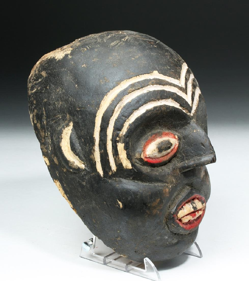 Indonesian Carved & Painted Wooden Festival Mask - 3