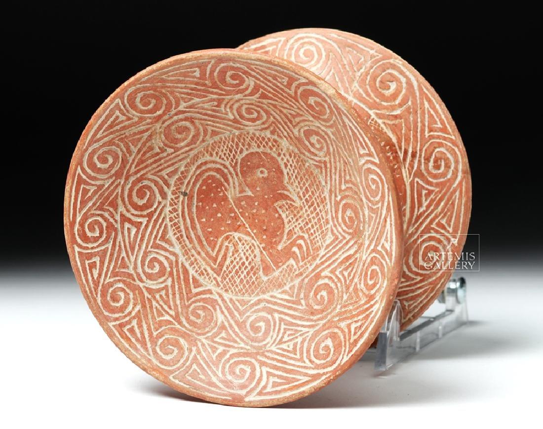 Chorrera / La Tolita Pottery Pedestal Plate - Birds - 6